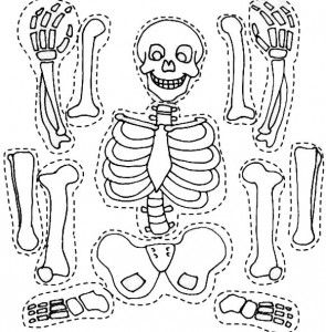 295x300 Skeleton Coloring Pages Craft Skeletons
