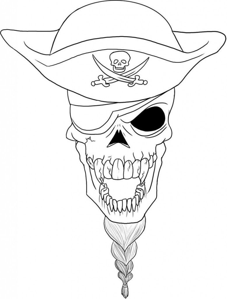 779x1024 Free Printable Skull Coloring Pages For Kids Pirate Skull, Adult