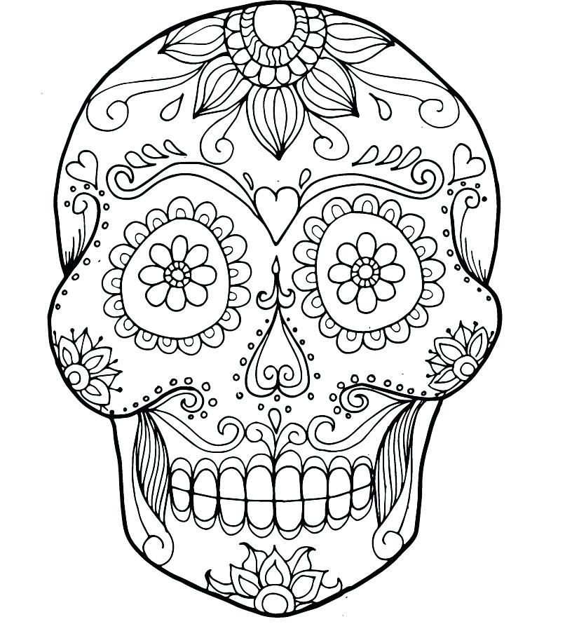 816x900 Free Sugar Skull Coloring Page Printable Day Of The Pages For Free