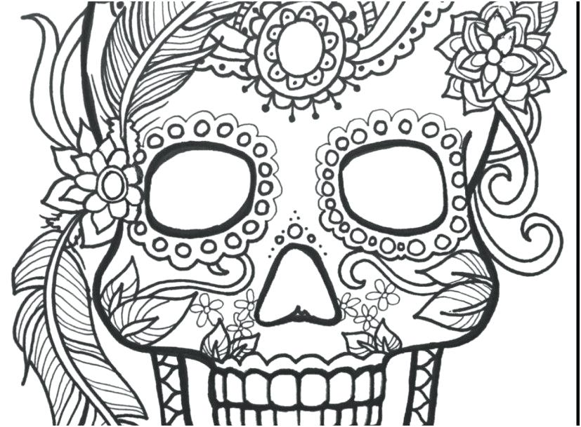 827x609 Skull Coloring Page Fantastic Skull Coloring Page With Day