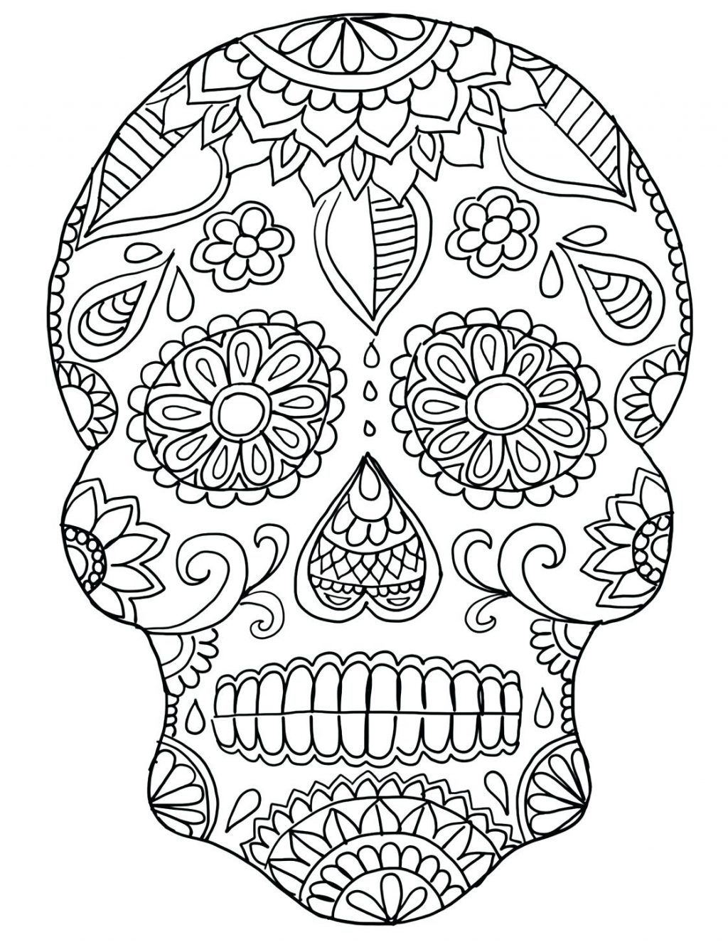 1024x1325 Sugar Skull Coloring Page Pages Marvelous Sign D A Day Sugar Skull