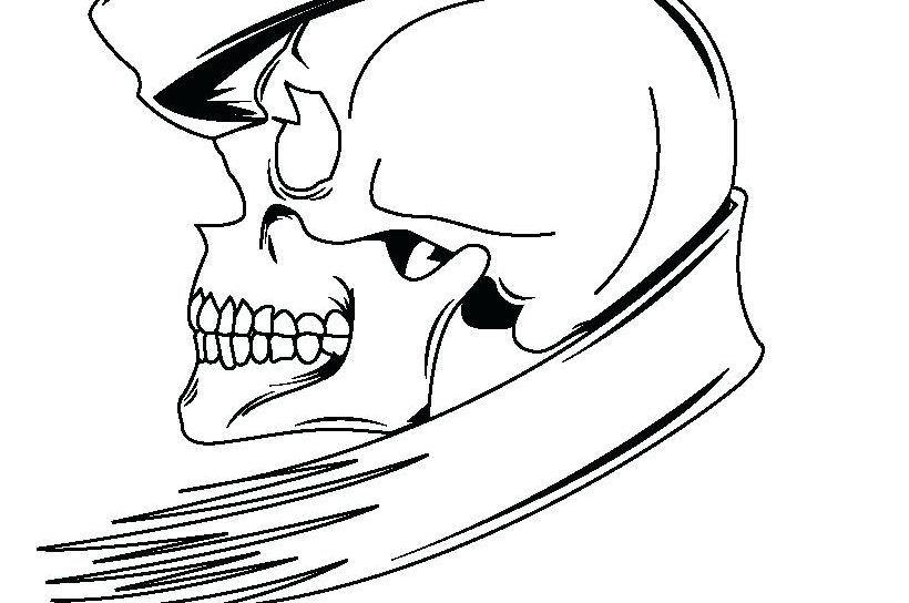 820x544 Day Of The Skeleton Coloring Page Free Printable Body And Skull