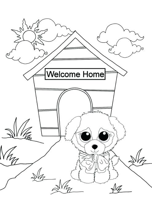 494x640 Beanie Boo Coloring Pages New Puppy Free Downloadable Sheets