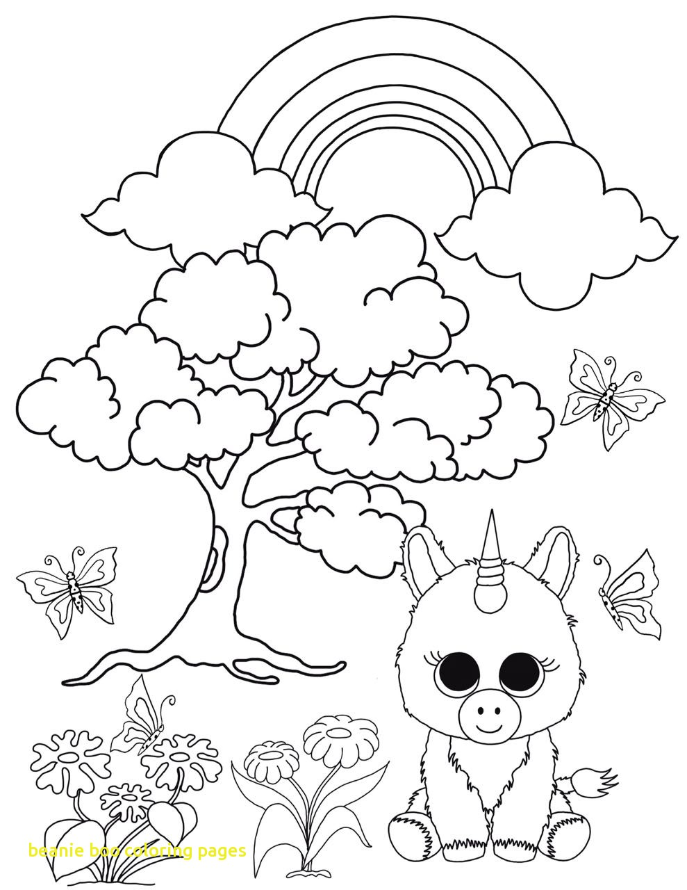 989x1280 Beanie Boo Coloring Pages With Free Best
