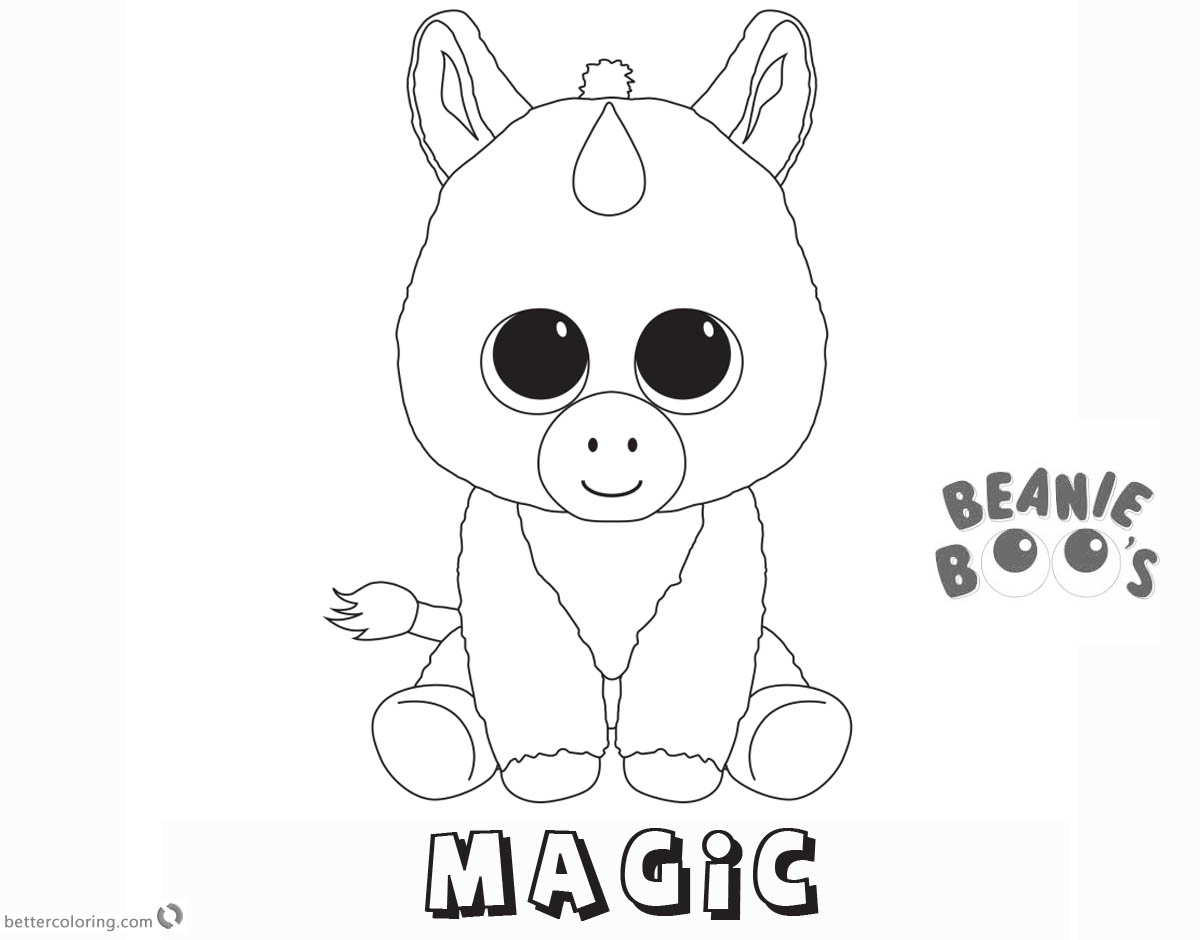 1200x940 Beanie Boo Coloring Pages Unicorn Magic