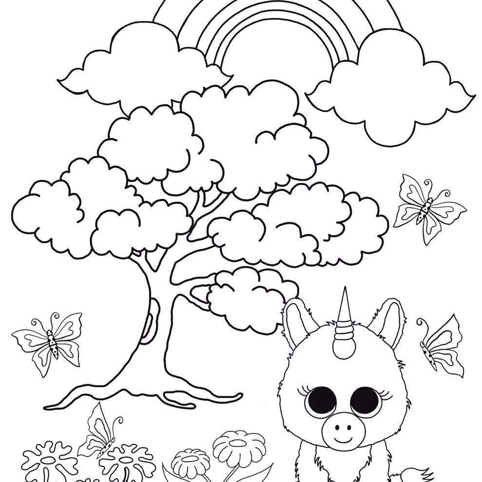 989x989 Beanie Boo Coloring Pages Compilation Free Coloring Pages