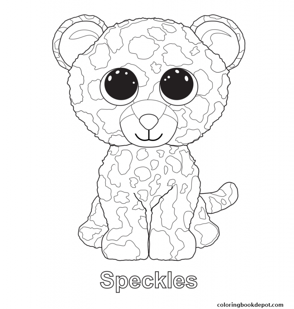 975x1024 Delighted Free Printable Beanie Boo Coloring P