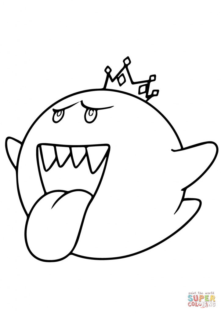724x1024 Mario Kart King Boo Coloring Pages Download