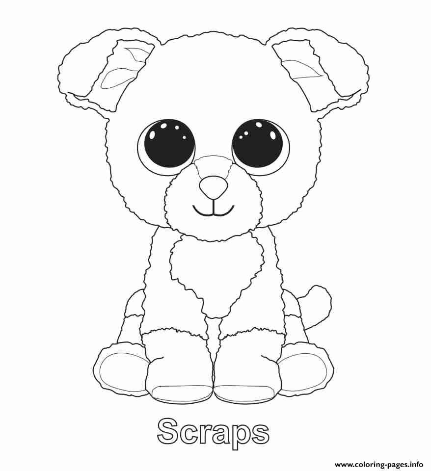 878x960 Print Scraps Beanie Boo Coloring Pages Quilt Beautiful Page