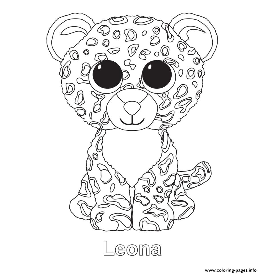 914x960 Print Leona Beanie Boo Coloring Pages Beanie Boo Birthday Ideas