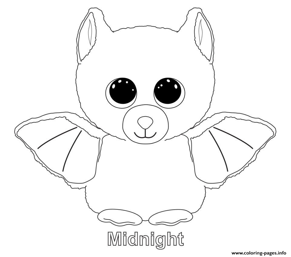 960x847 Print Midnight Beanie Boo Coloring Pages Embroidery Patterns