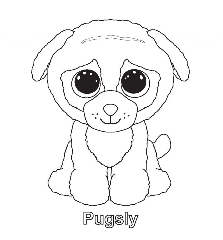 768x824 Simple Design Beanie Boo Coloring Pages Art Gallery