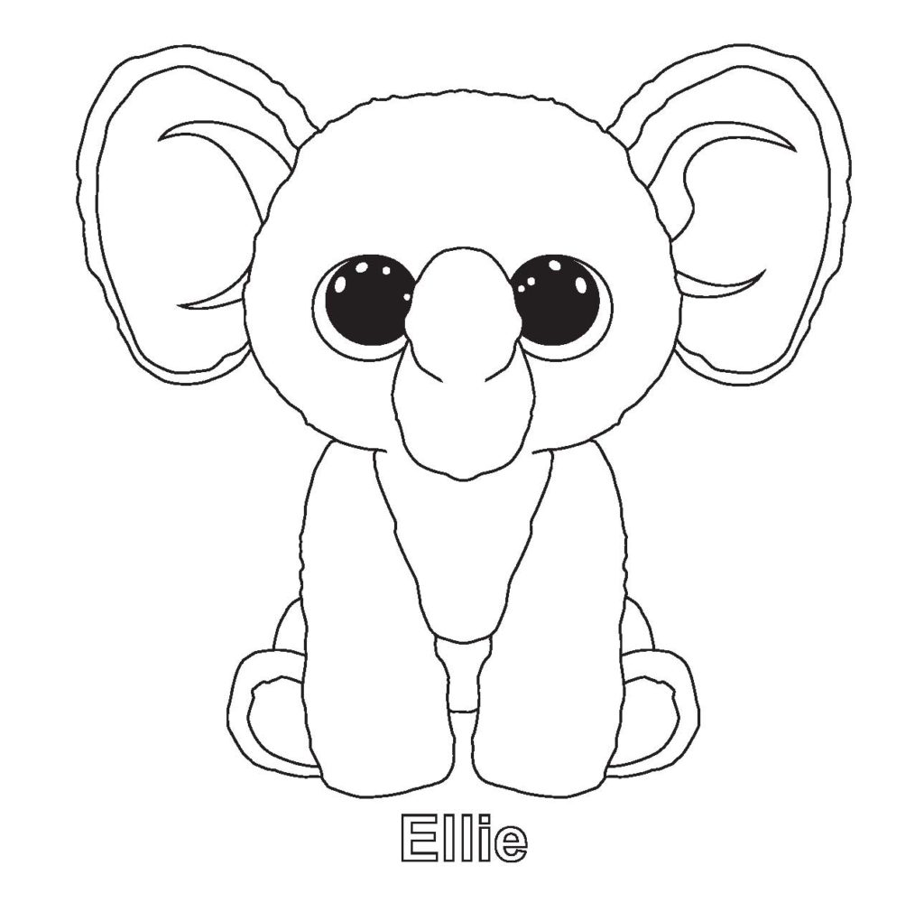 1024x1010 Beanie Boo Coloring Pages