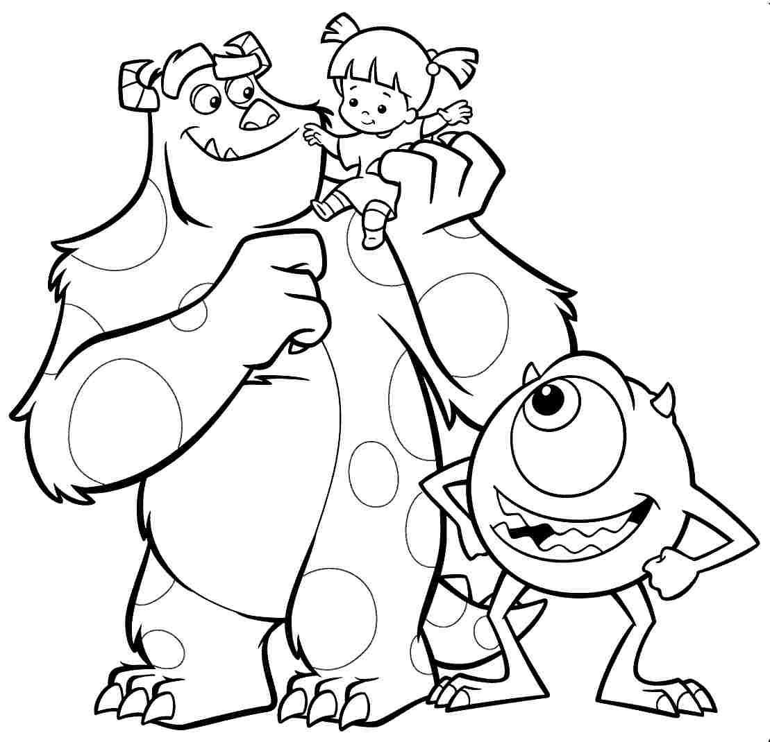 1109x1070 Monster Inc Coloring Pages