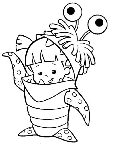 404x505 Monster Inc Cute Boo Coloring Pages