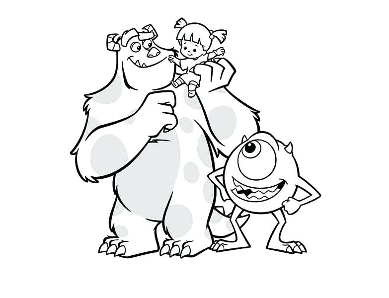 783x600 Monsters Inc Coloring Page Monsters Inc Boo Coloring Pages Ideas