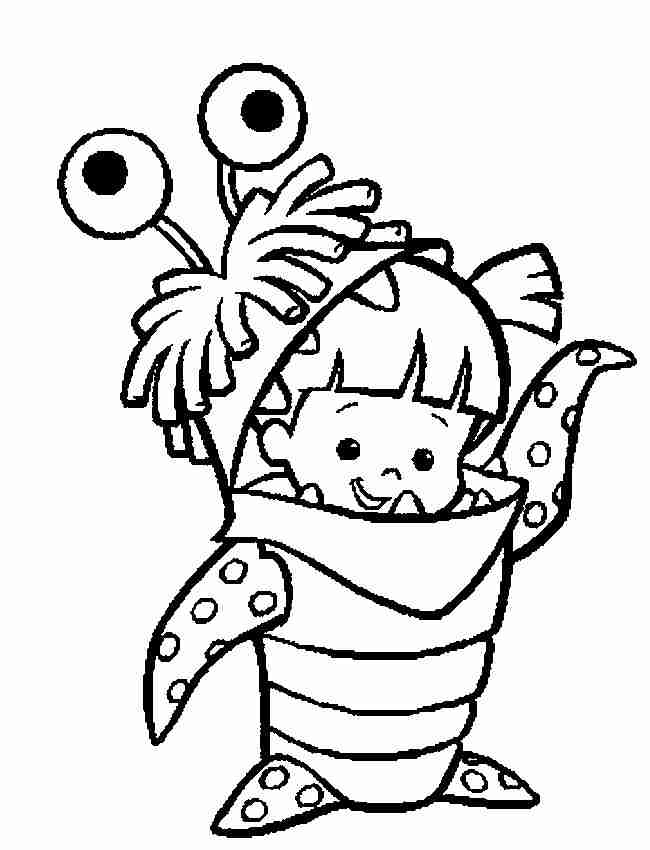 650x850 Monsters Inc Coloring Pages Boo Allmadecine Weddings Monsters