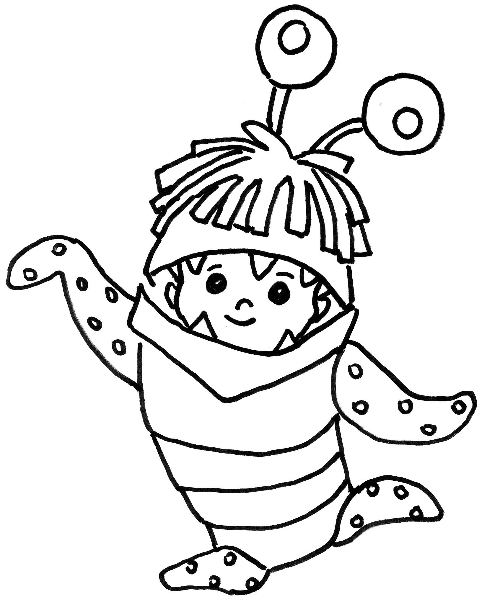 Boo Monsters Inc Coloring Pages at GetDrawings | Free download