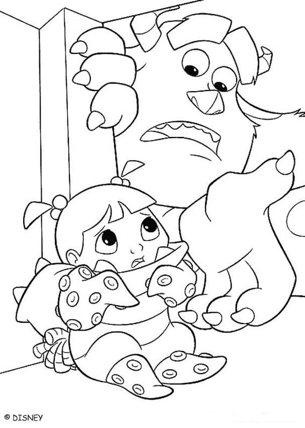 607x850 Sulley Finds Boo Coloring Pages