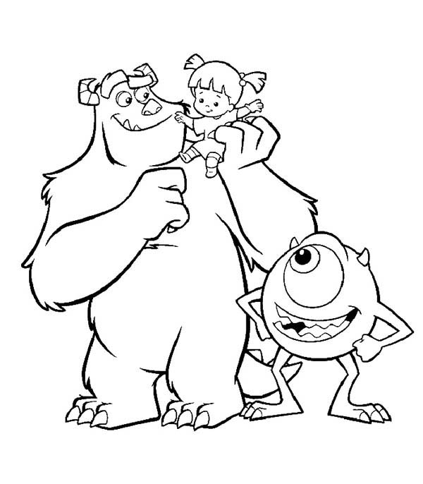 600x686 Top Monsters Inc New Coloring Pages
