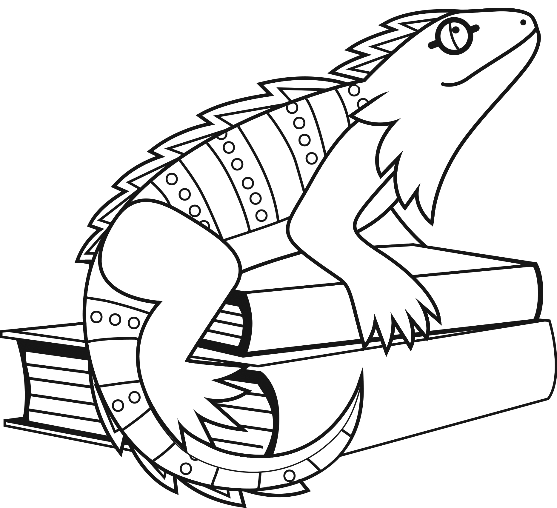 1866x1702 Iguana Coloring Pages