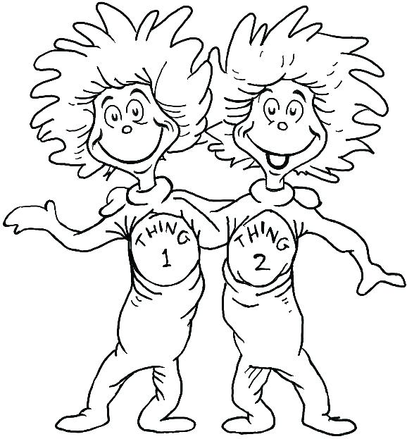 578x623 Scholastic Coloring Pages Thing One And Thing Two Coloring Pages