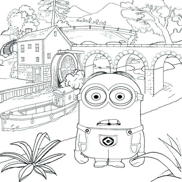 618x618 Despicable Me Coloring Book Fair Coloring Pages Free Printable