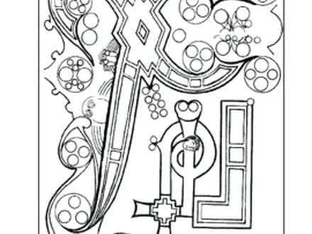 440x330 Book Kells Coloring Pages Book Coloring Pages Book