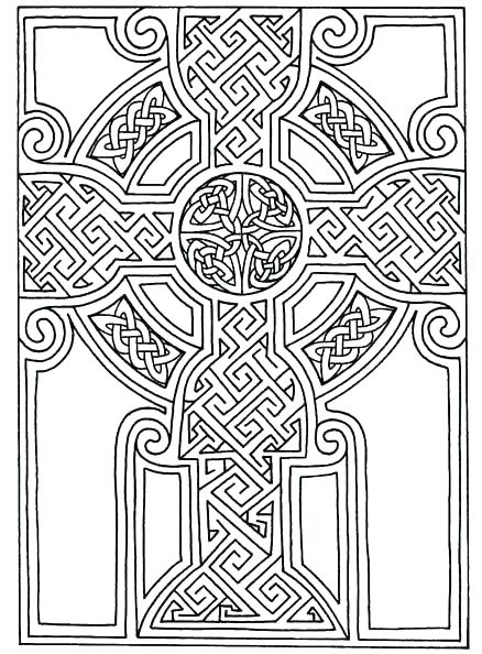 438x594 Book Of Kells Coloring Pages Color Your Own Book Of Coloring Book