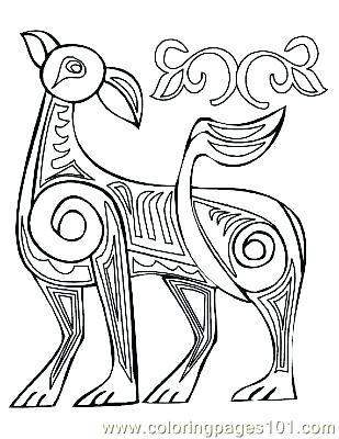 309x400 Book Of Kells Coloring Pages Coloring Page The Book Of Kells