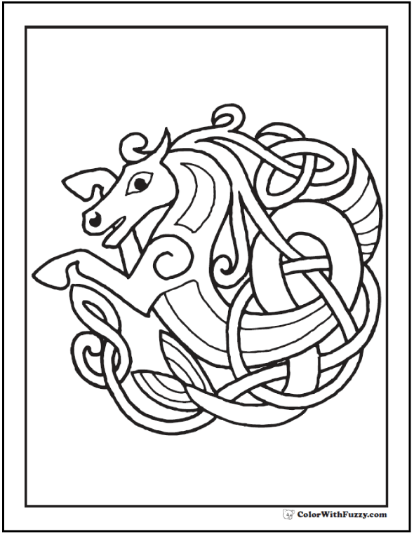 Book Of Kells Coloring Pages at
