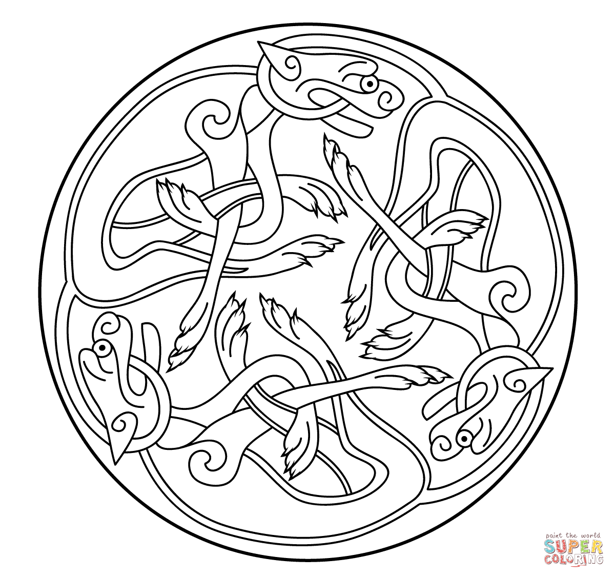 1200x1128 Book Of Kells Colorbook Icolor Celtic Ornament
