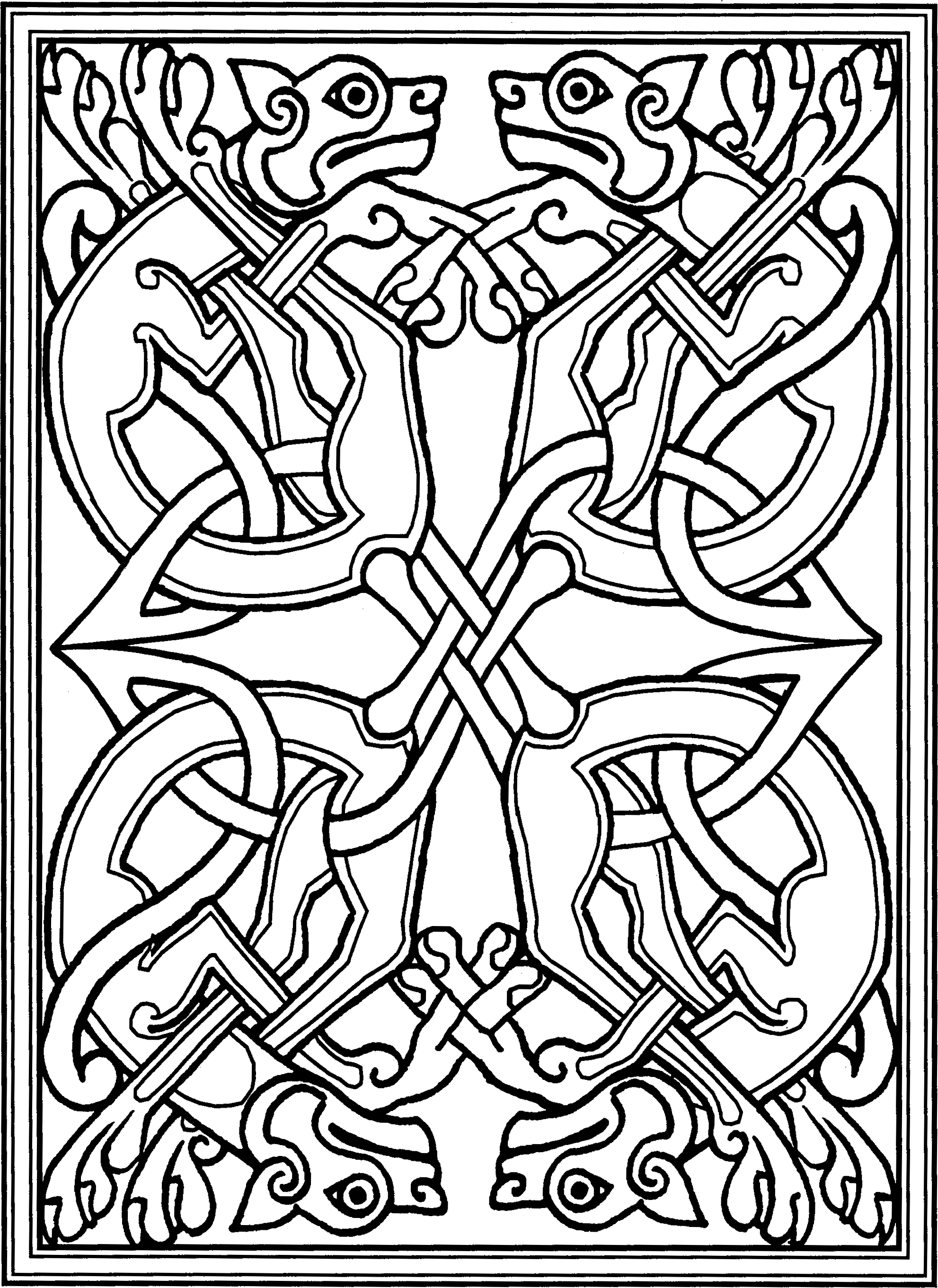 1982x2722 Inspirational Book Of Kells Coloring Pages
