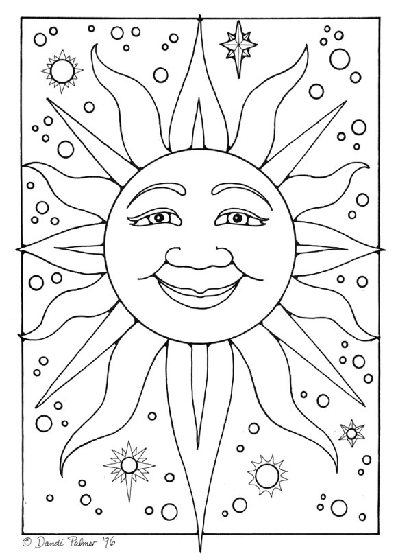 581x816 Blank Colouring Pages
