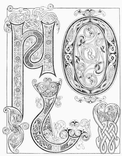 400x510 Book Of Kells Coloring Pages