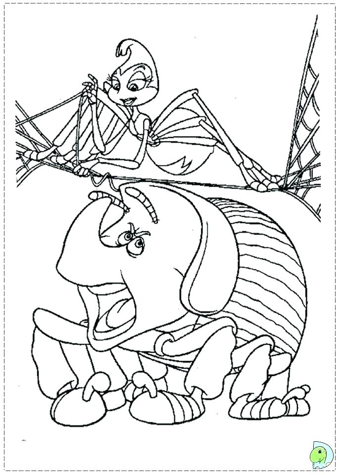 691x960 Coloring Pages Bugs Book Of Life Coloring Pages Stock A Bugs Life