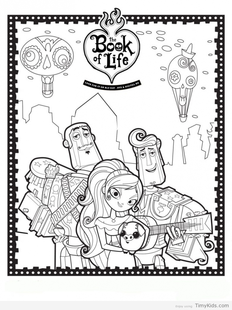 767x1024 Book Of Life Coloring Pages Timykids
