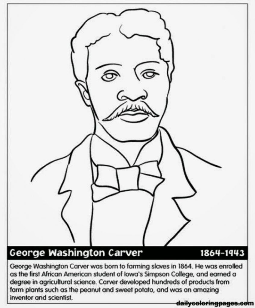 847x1024 Black History Printable Coloring Pages