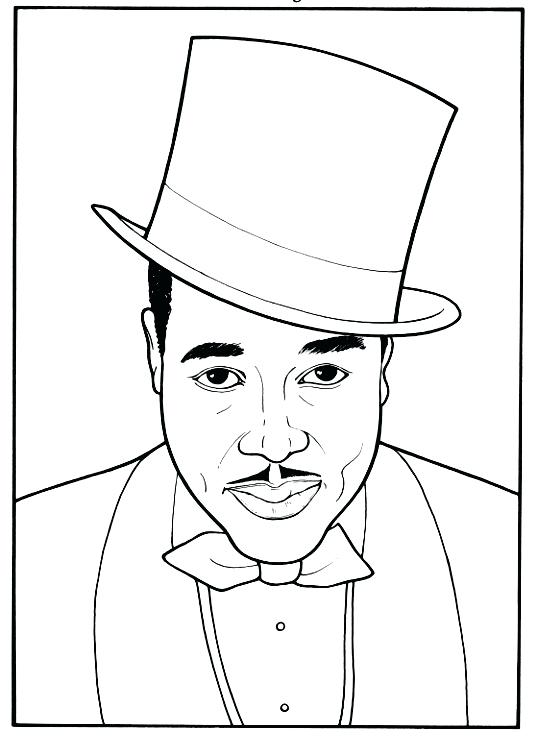 536x738 Booker T Washington Coloring Pages Black History Month Coloring