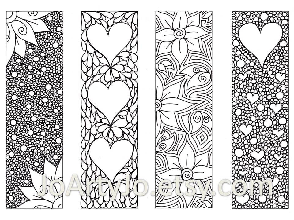 Free Printable Colouring Page Bookmarks – Pusat Hobi