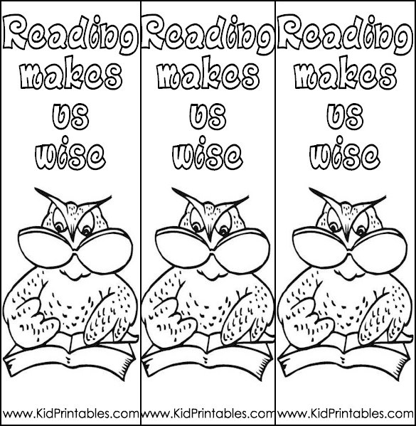 Bookmark Coloring Pages Printable