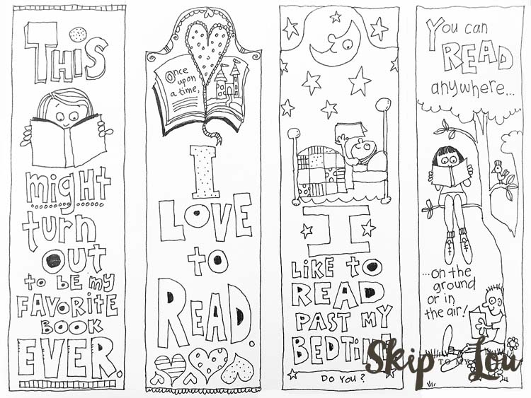 Bookmark Coloring Pages Printable at GetDrawings.com | Free ...
