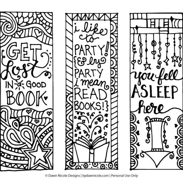 Bookmark Coloring Pages Printable at GetDrawings.com | Free ...