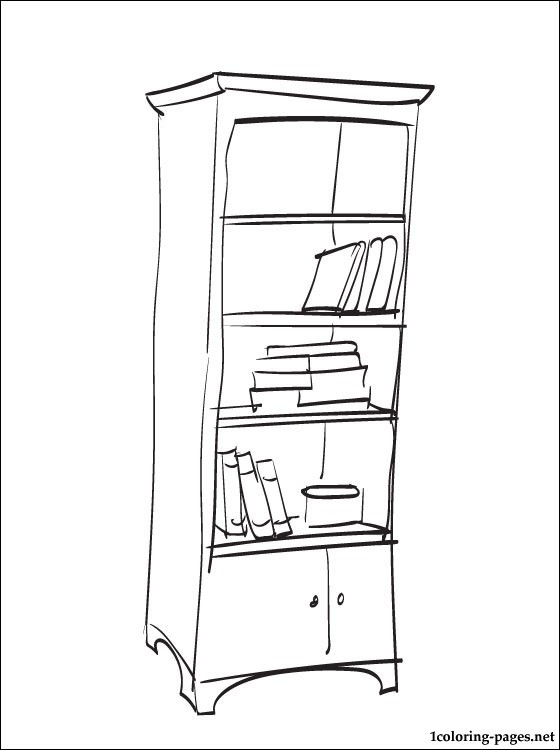 560x750 Coloring Page Bookshelf Coloring Pages