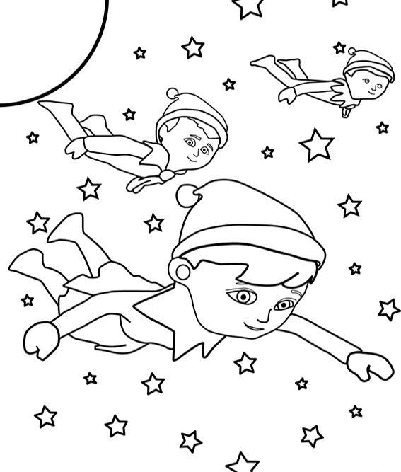 567x667 Elf On The Shelf Coloring Pages