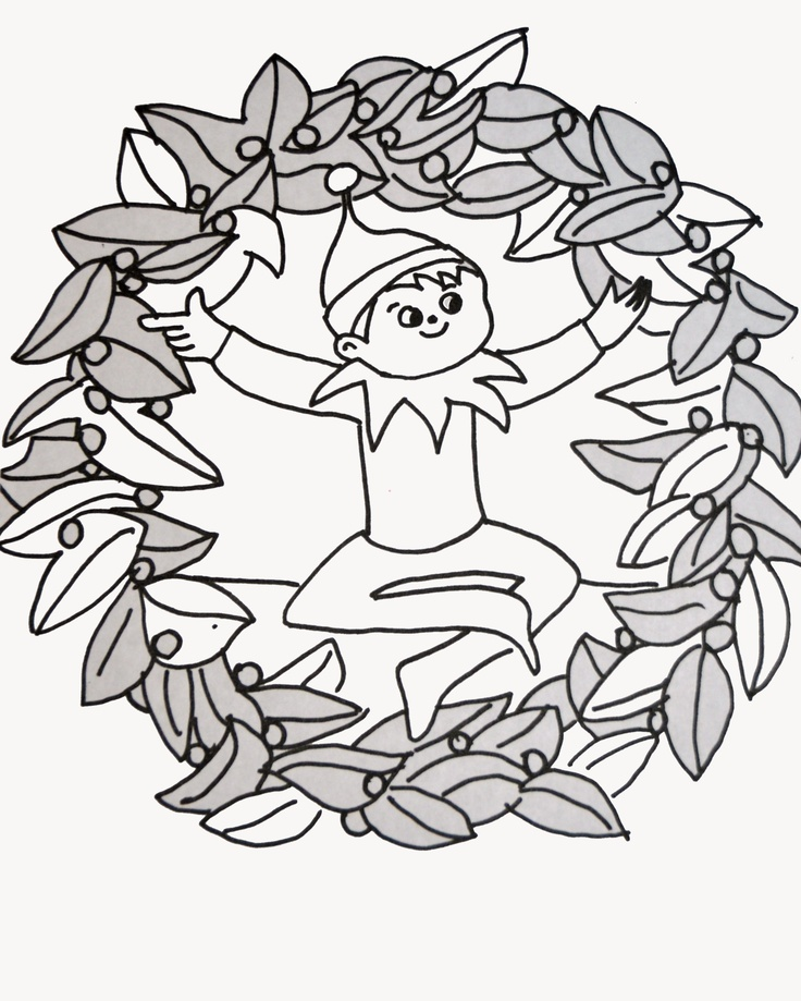736x919 Elf On The Shelf Coloring Pages The Sun Flower Pages