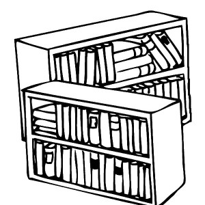 300x300 Empty Bookshelf Coloring Pages Best Place To Color