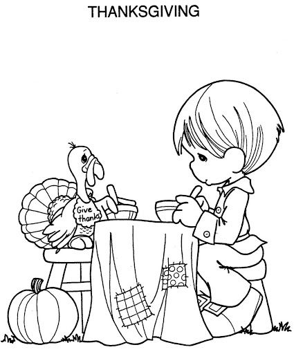 425x512 Moms Bookshelf More Printable Thanksgiving Coloring Pages