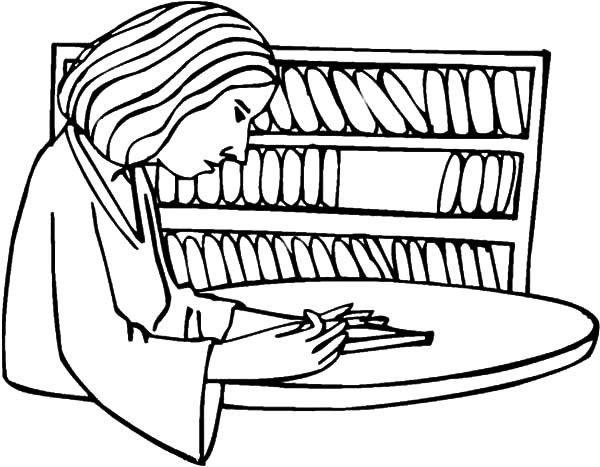 600x467 Mother Take Book From Bookshelf Coloring Pages Best Place To Color