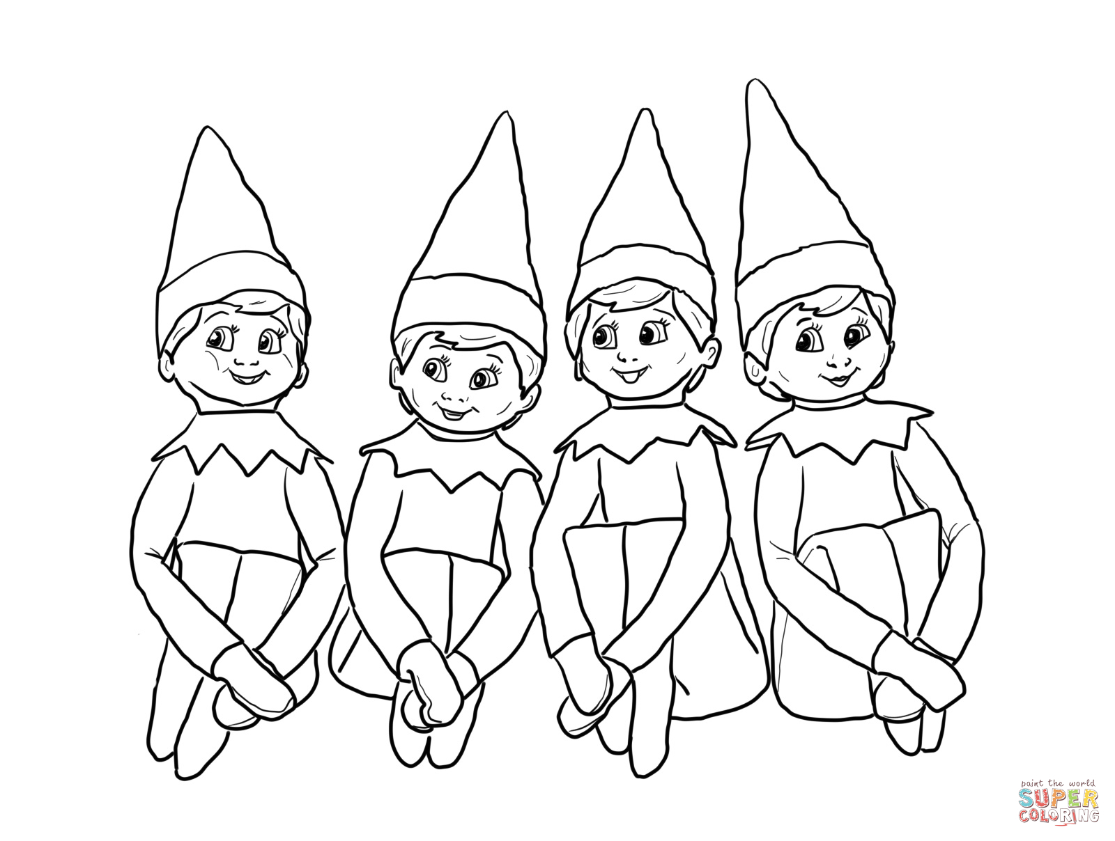 1600x1208 Reduced Elf On The Shelf Coloring Sheet Elves Page Sup